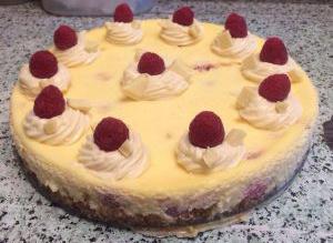 Cheesecake Chocolat blanc – framboise