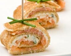 Crêpes roulées tartare saumon