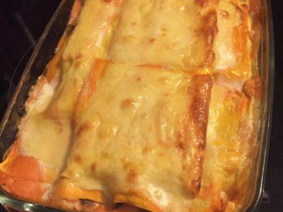 Lasagnes champignons-crevettes