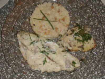 Filet de poisson au vin blanc