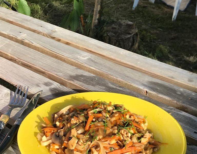 Nouille de riz au poulet